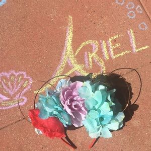 Disney Accessories - Mouse Ears!  Handmade Ariel bounding!
